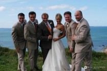 Groom Best Man Wedding Photo Ocean View small