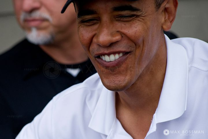 Barack Obama Smile Close-up